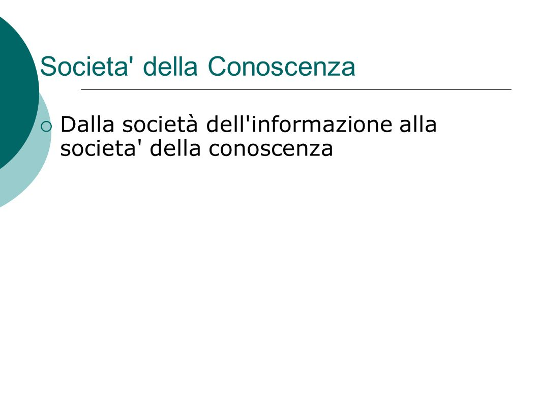 Societa della Conoscenza