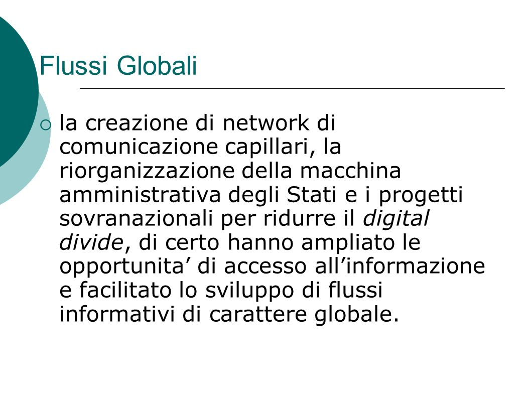 Flussi Globali