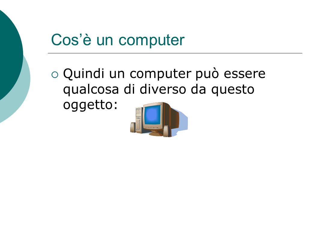 Cos'è un computer Quindi un computer può essere qualcosa di diverso da questo oggetto: