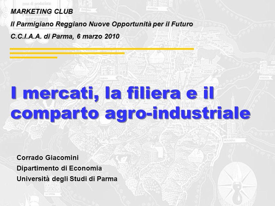 I mercati, la filiera e il comparto agro-industriale