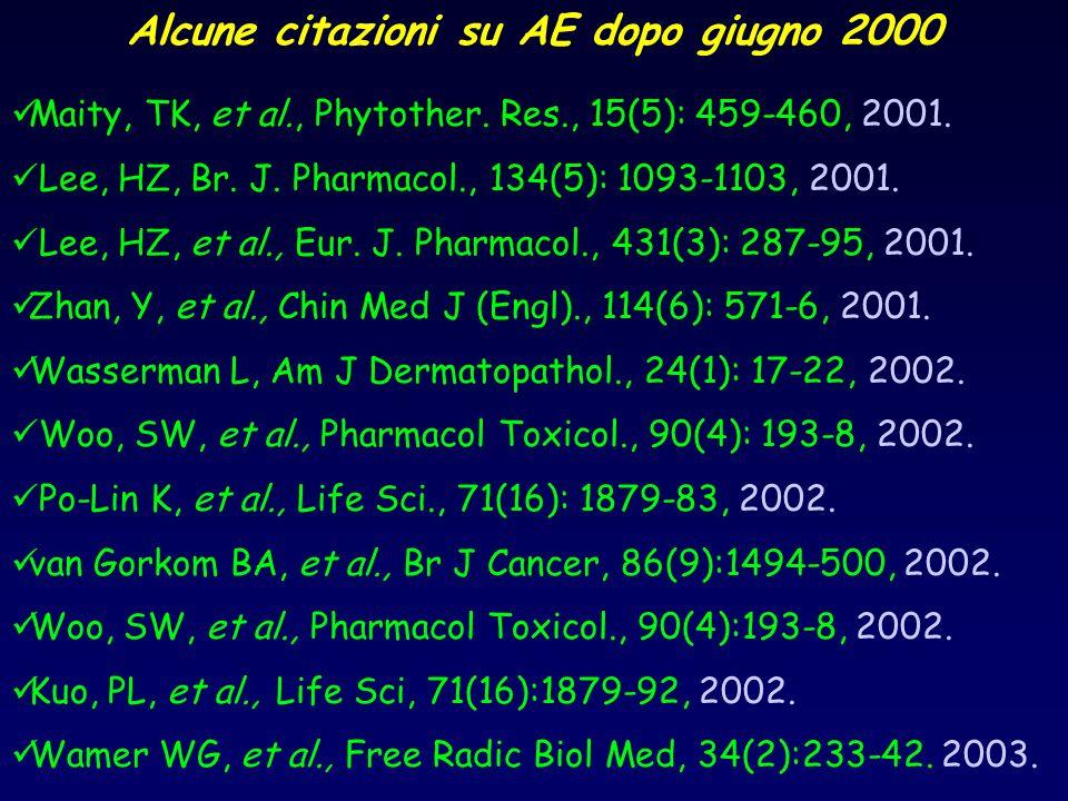 Alcune citazioni su AE dopo giugno 2000