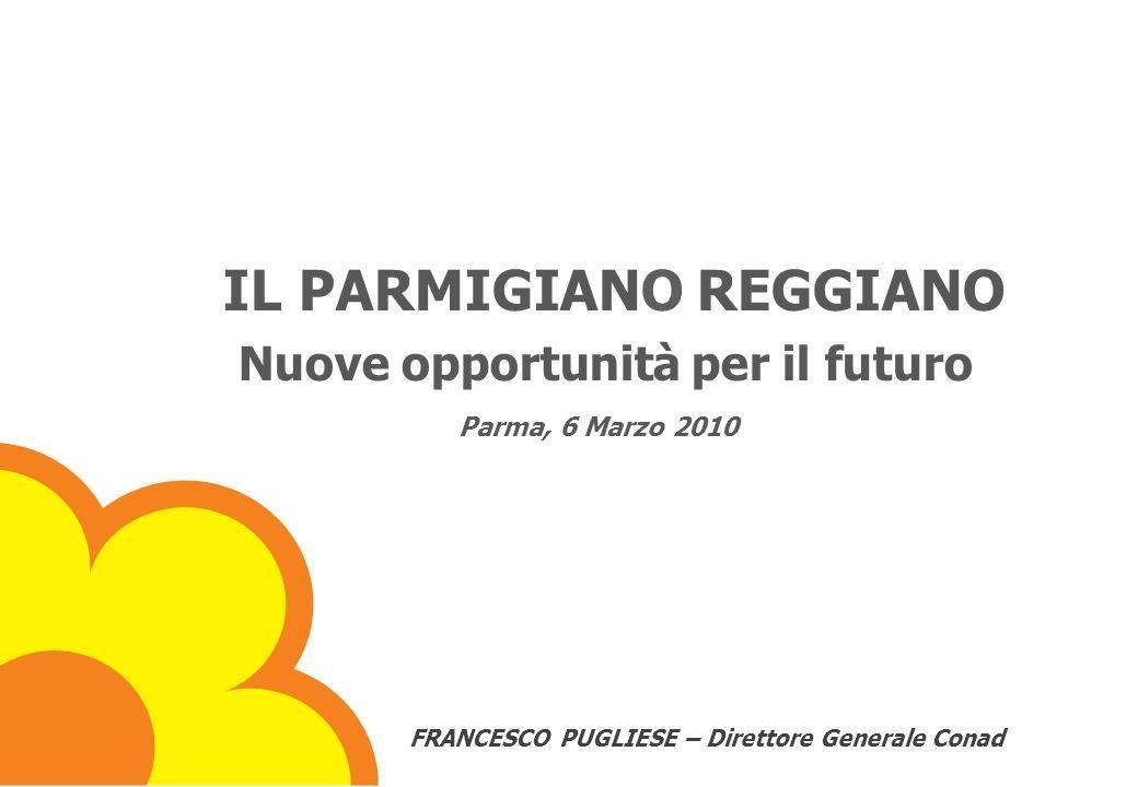 IL PARMIGIANO REGGIANO Nuove opportunità per il futuro Parma, 6 Marzo 2010