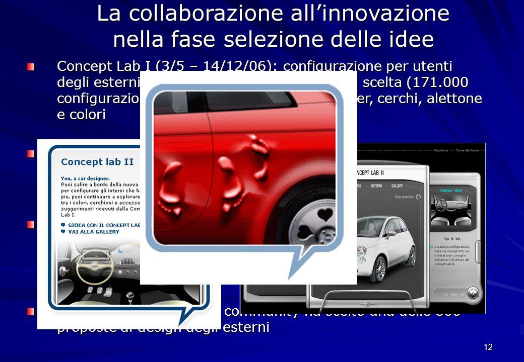 La collaborazione all'innovazione nella fase selezione delle idee
