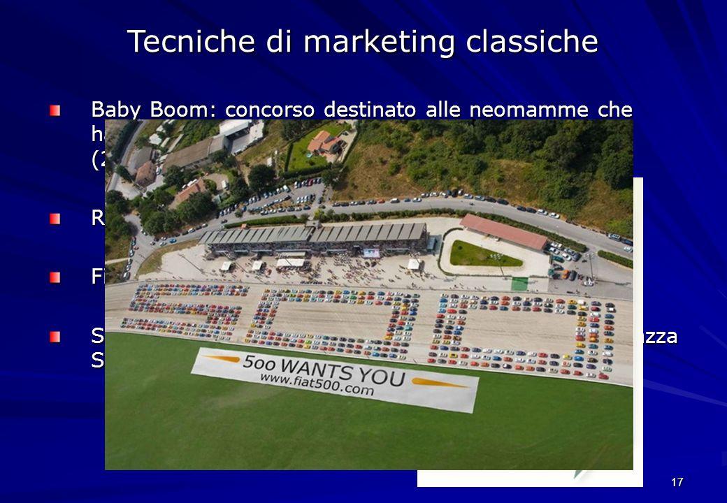 Tecniche di marketing classiche