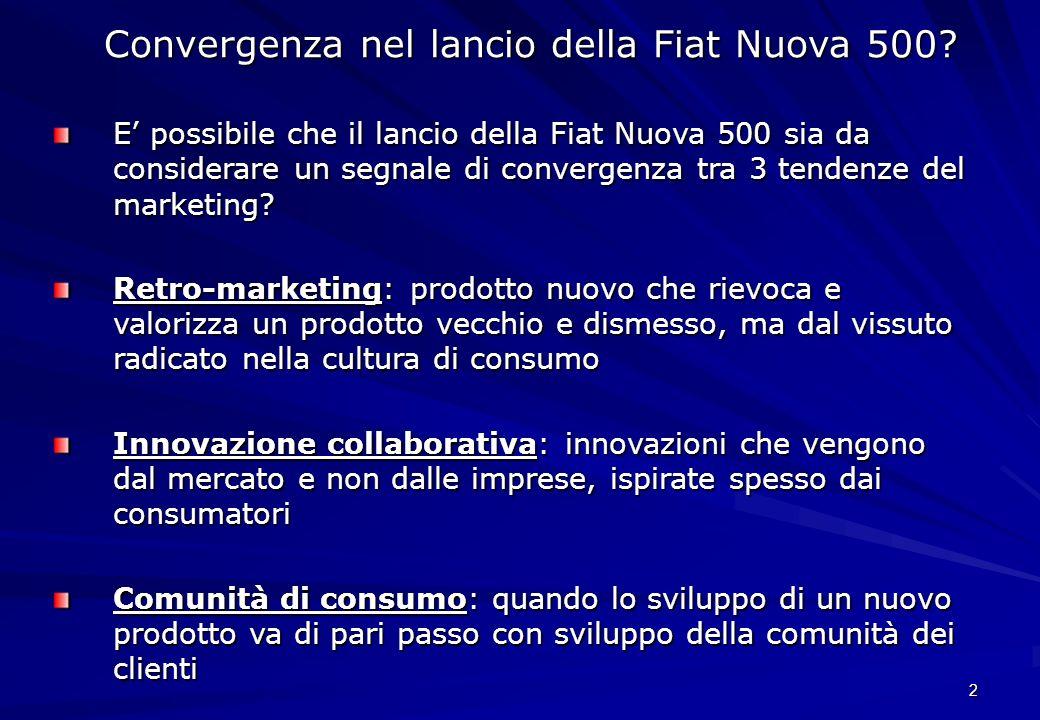 Convergenza nel lancio della Fiat Nuova 500