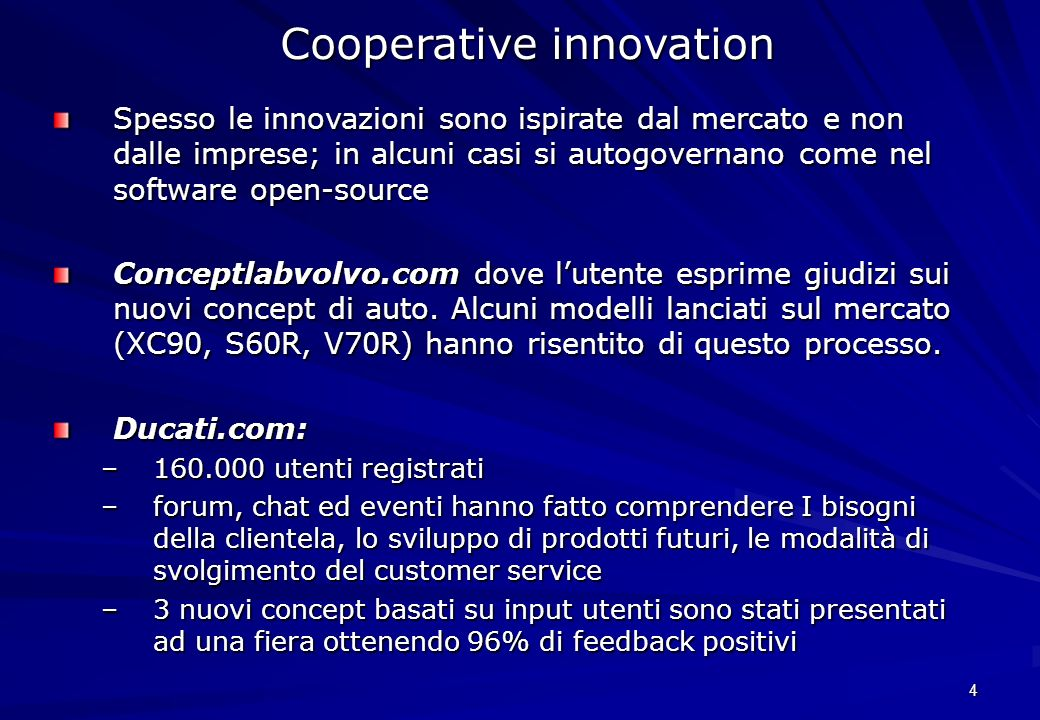 Cooperative innovation