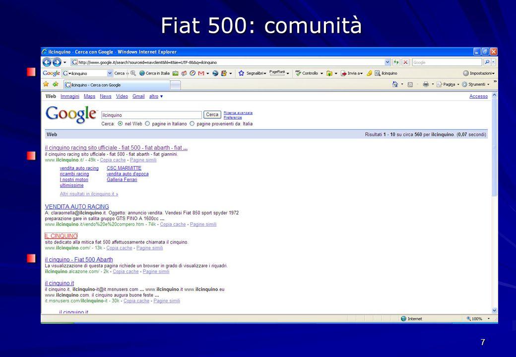 Fiat 500: comunità