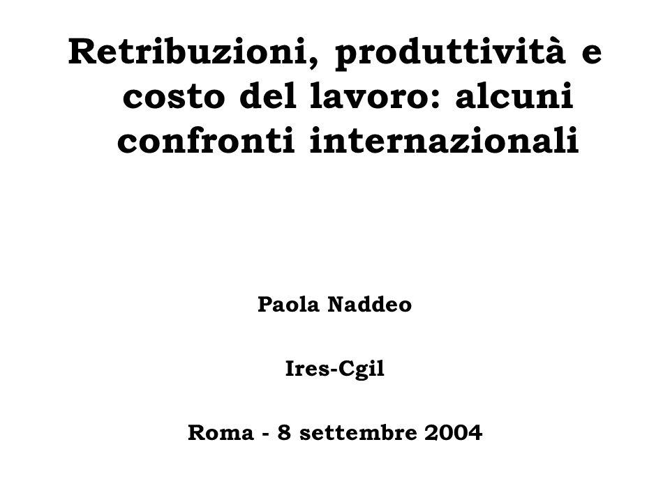 Retribuzioni, produttività e costo del lavoro: alcuni confronti internazionali