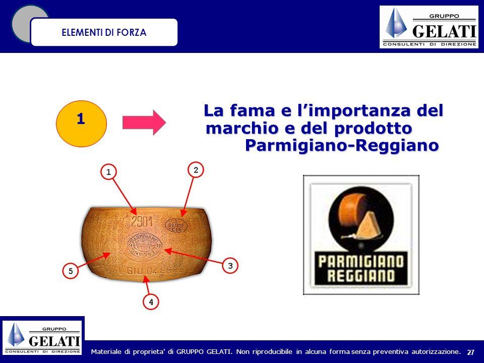 La fama e l'importanza del marchio e del prodotto Parmigiano-Reggiano