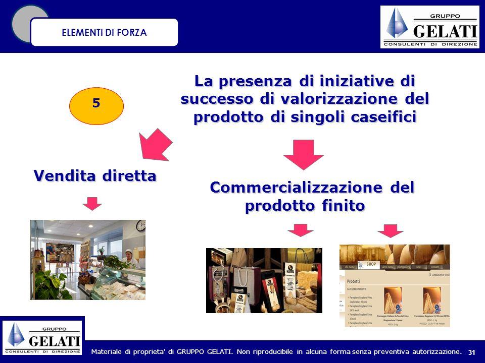 Commercializzazione del prodotto finito
