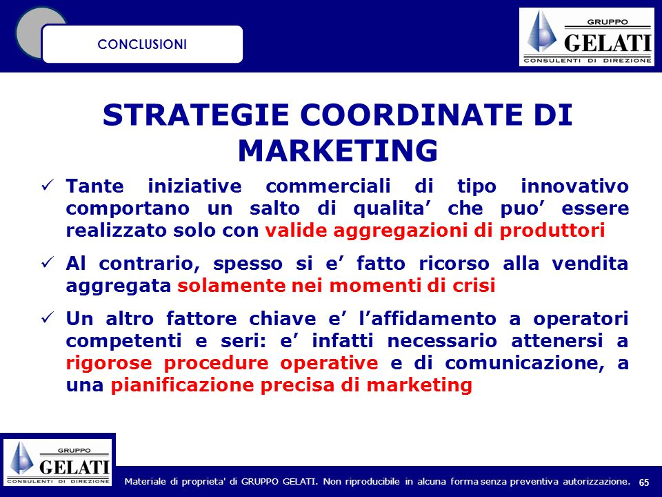 STRATEGIE COORDINATE DI MARKETING