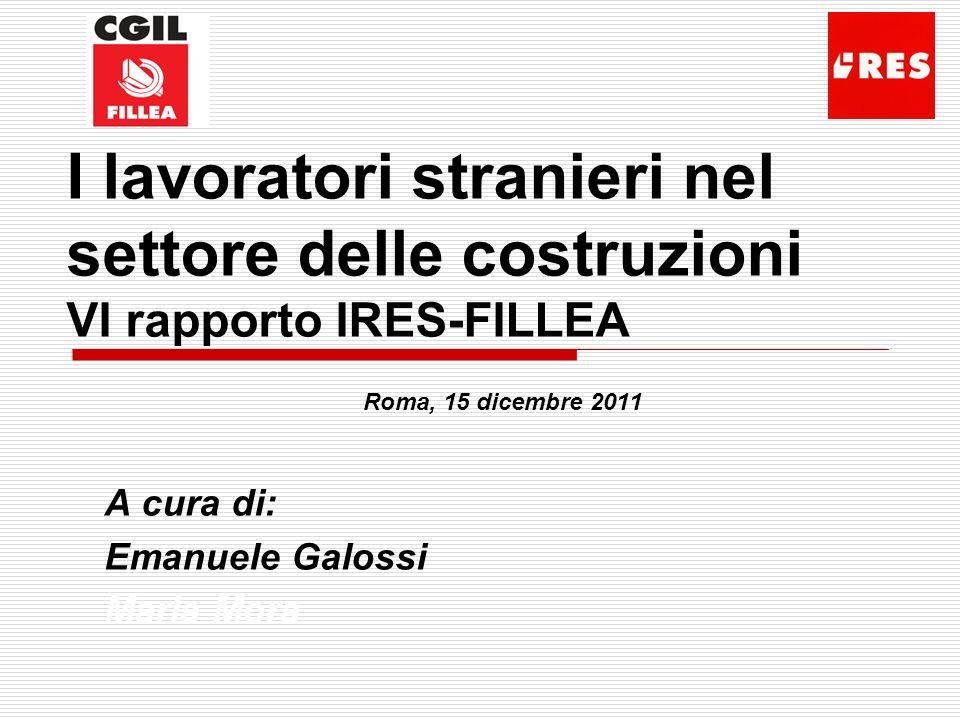 Roma, 15 dicembre 2011 A cura di: Emanuele Galossi Maria Mora
