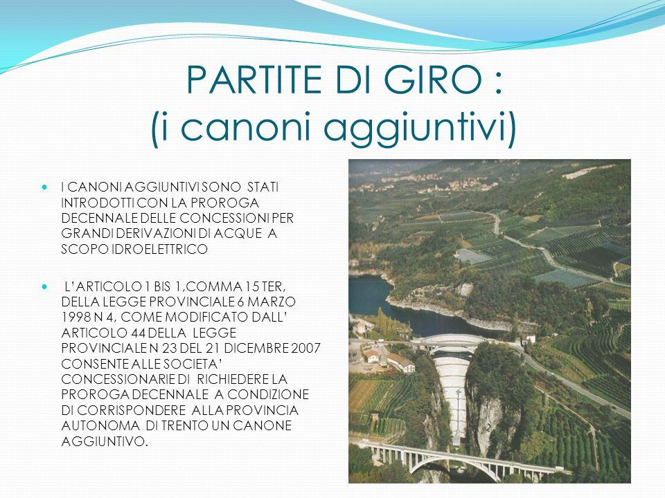 PARTITE DI GIRO : (i canoni aggiuntivi)