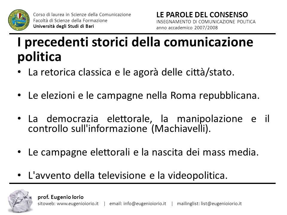 I precedenti storici della comunicazione politica