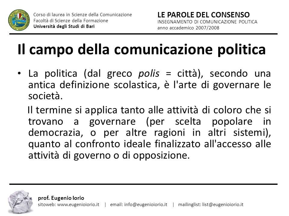 Il campo della comunicazione politica