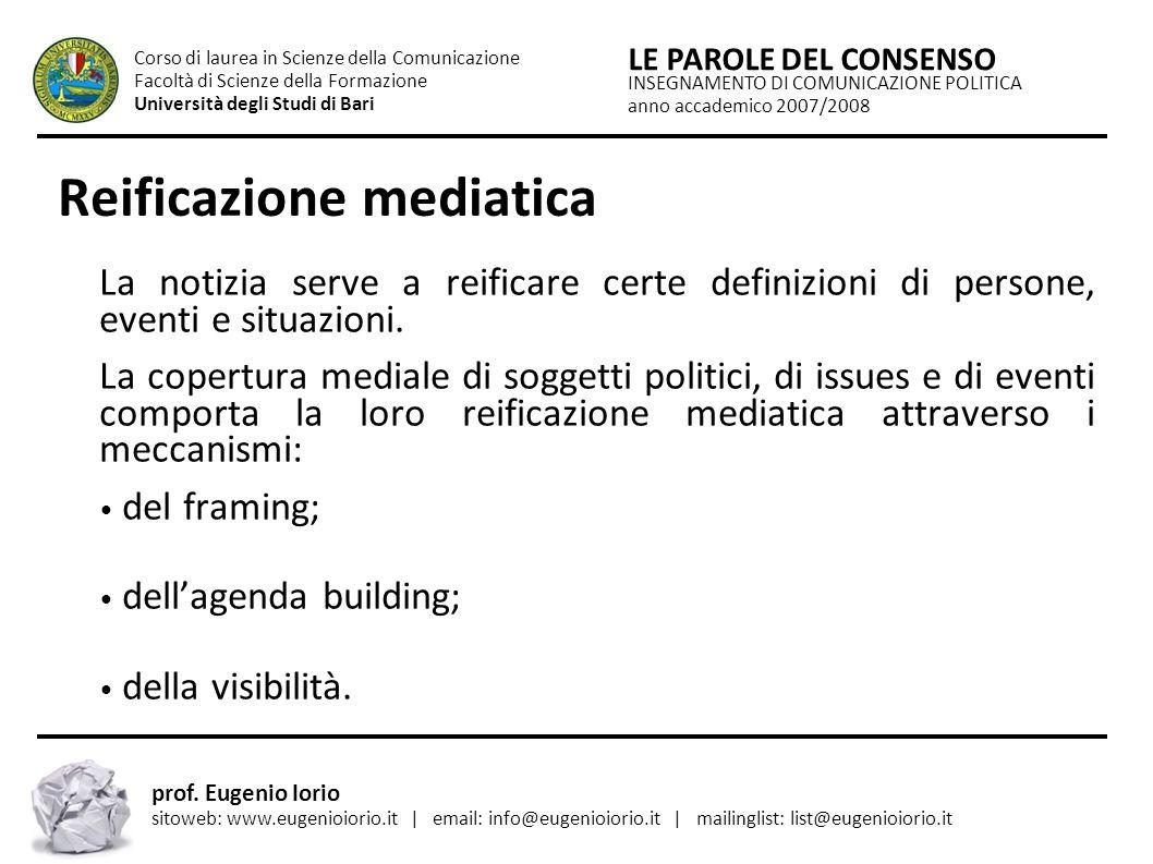 Reificazione mediatica