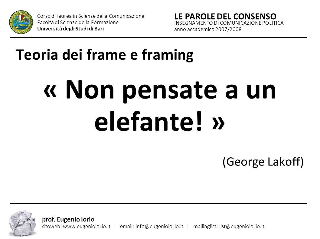 Teoria dei frame e framing