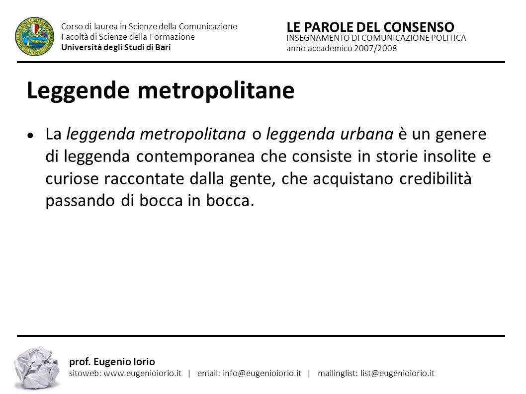 Leggende metropolitane