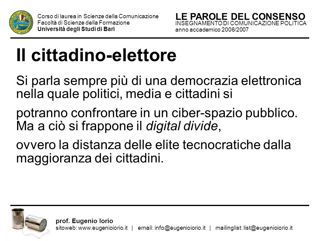 Il cittadino-elettore