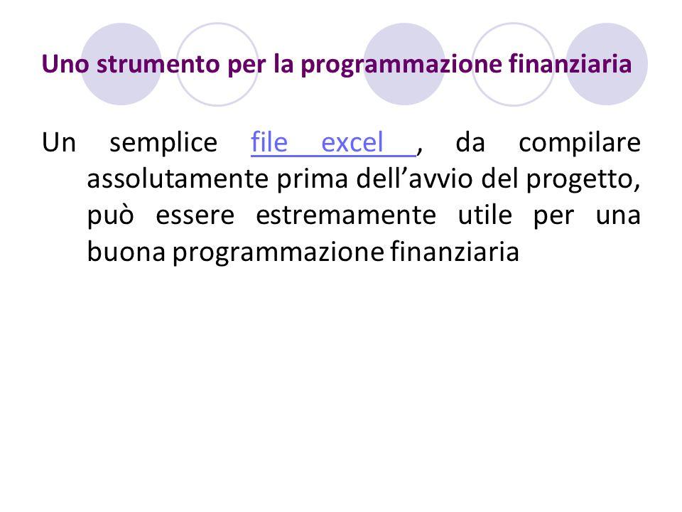Uno strumento per la programmazione finanziaria