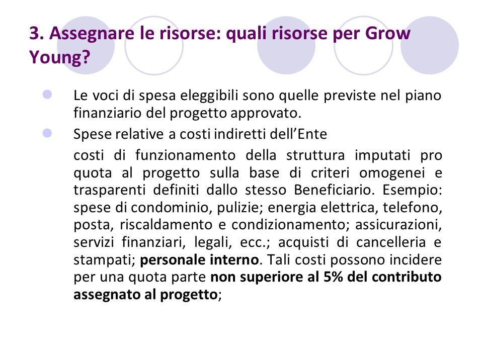 3. Assegnare le risorse: quali risorse per Grow Young