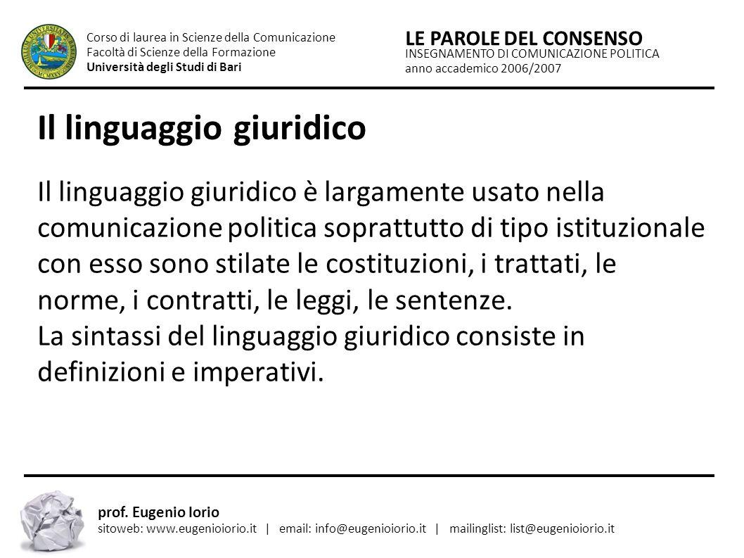 Il linguaggio giuridico