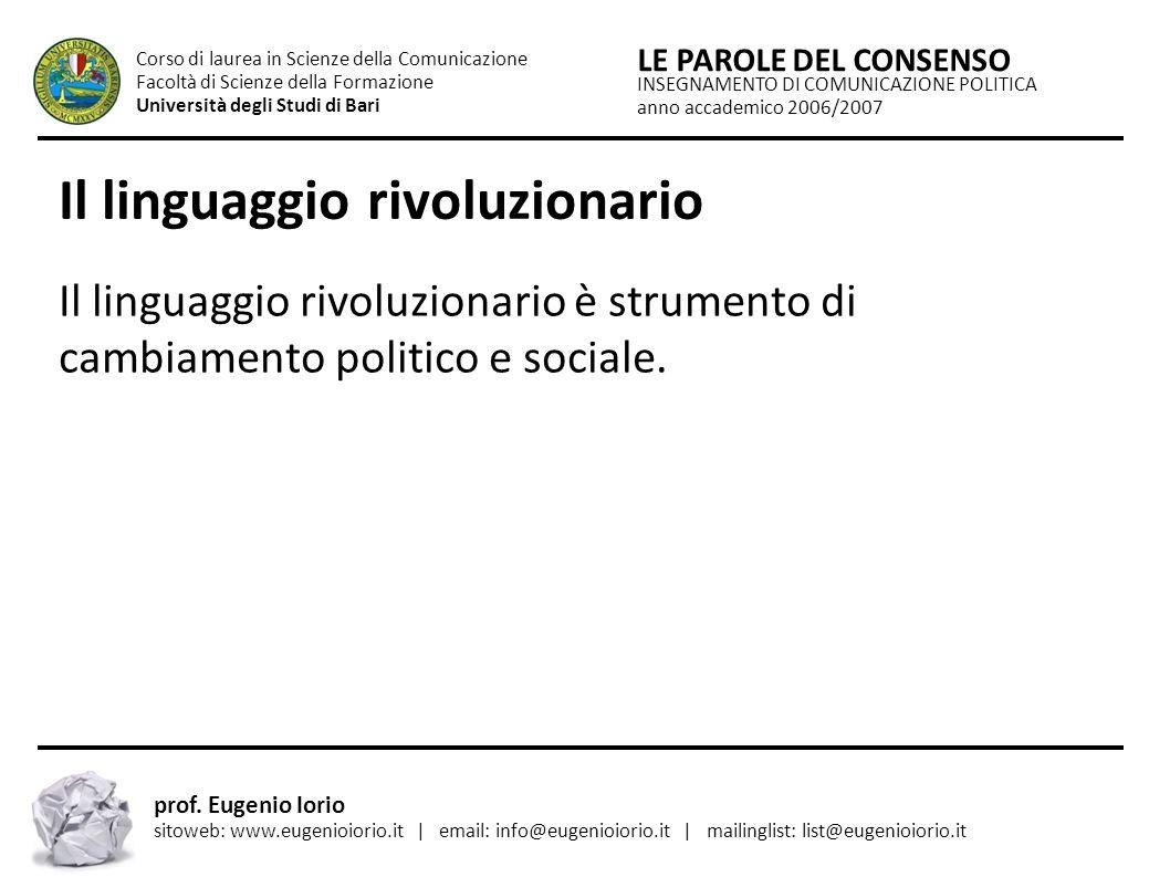 Il linguaggio rivoluzionario