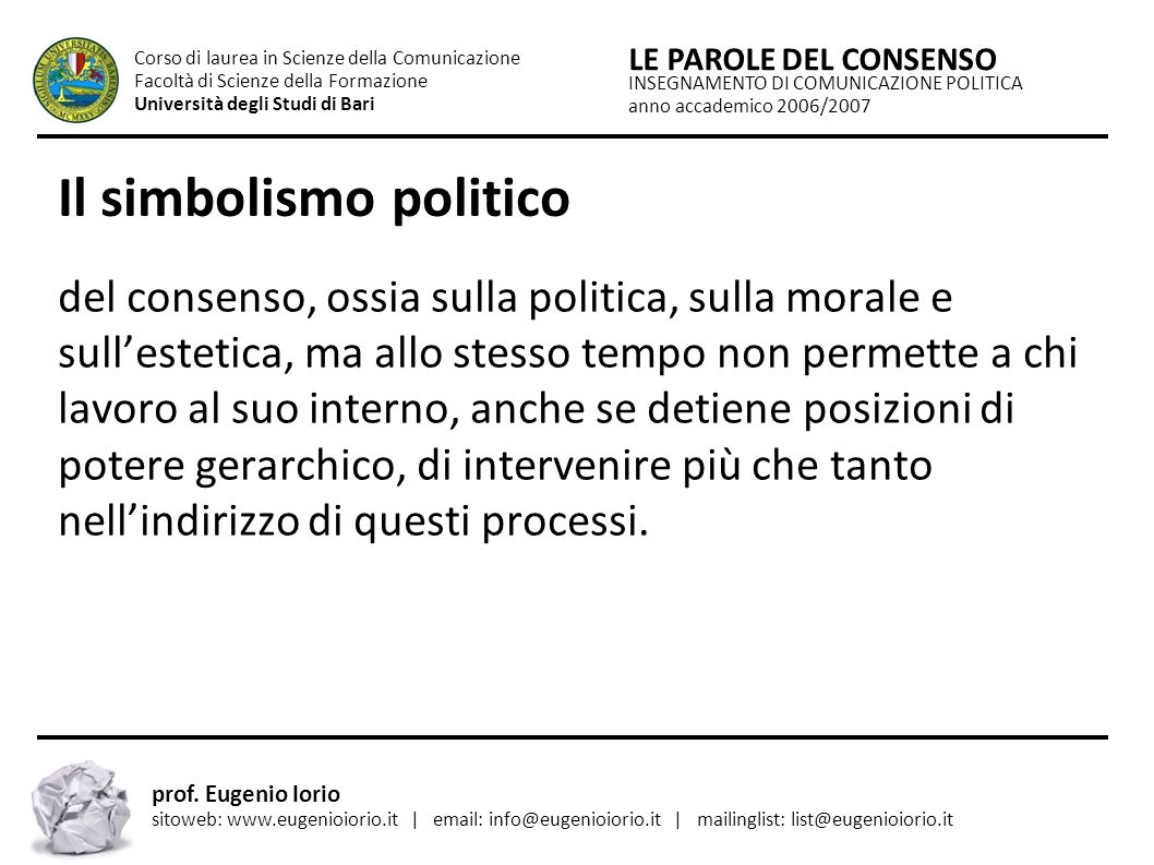 Il simbolismo politico