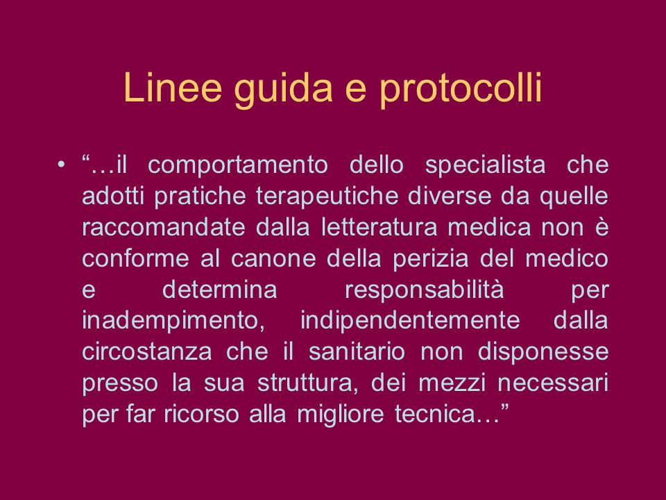 Linee guida e protocolli