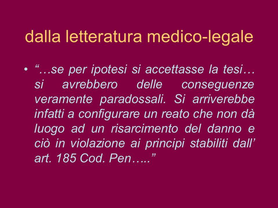 dalla letteratura medico-legale