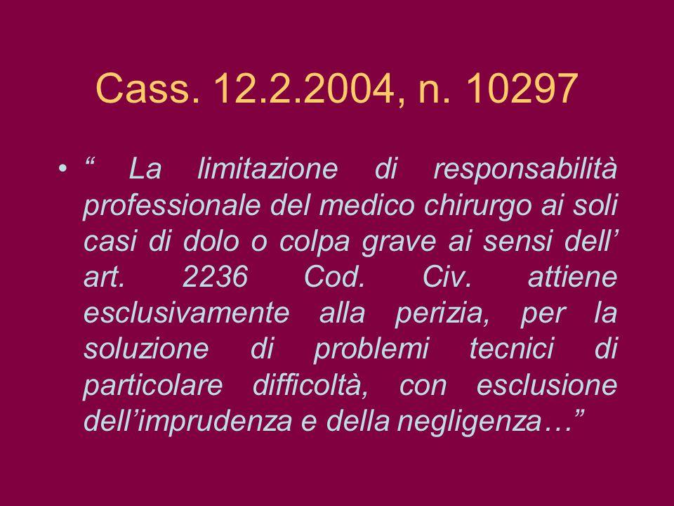 Cass. 12.2.2004, n. 10297