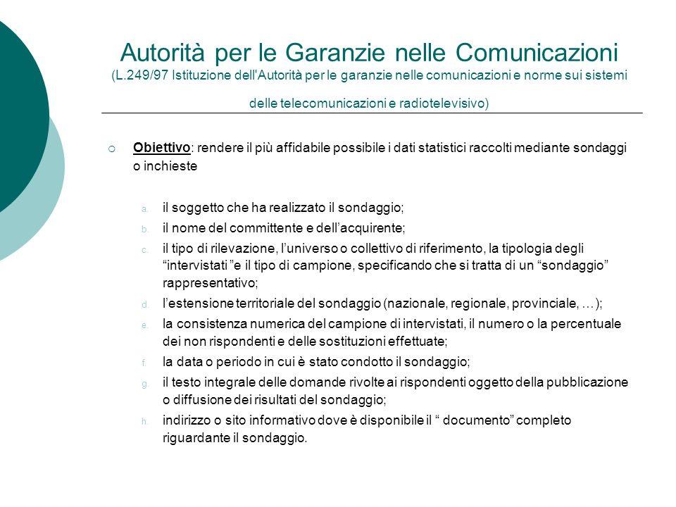 Autorità per le Garanzie nelle Comunicazioni (L