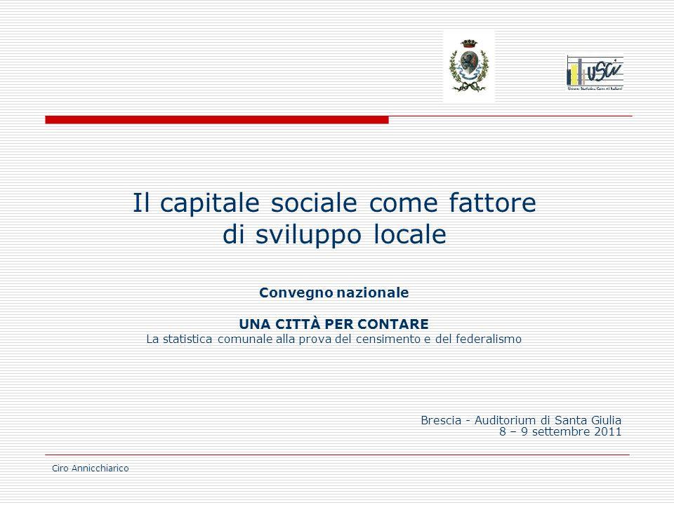 Il capitale sociale come fattore di sviluppo locale