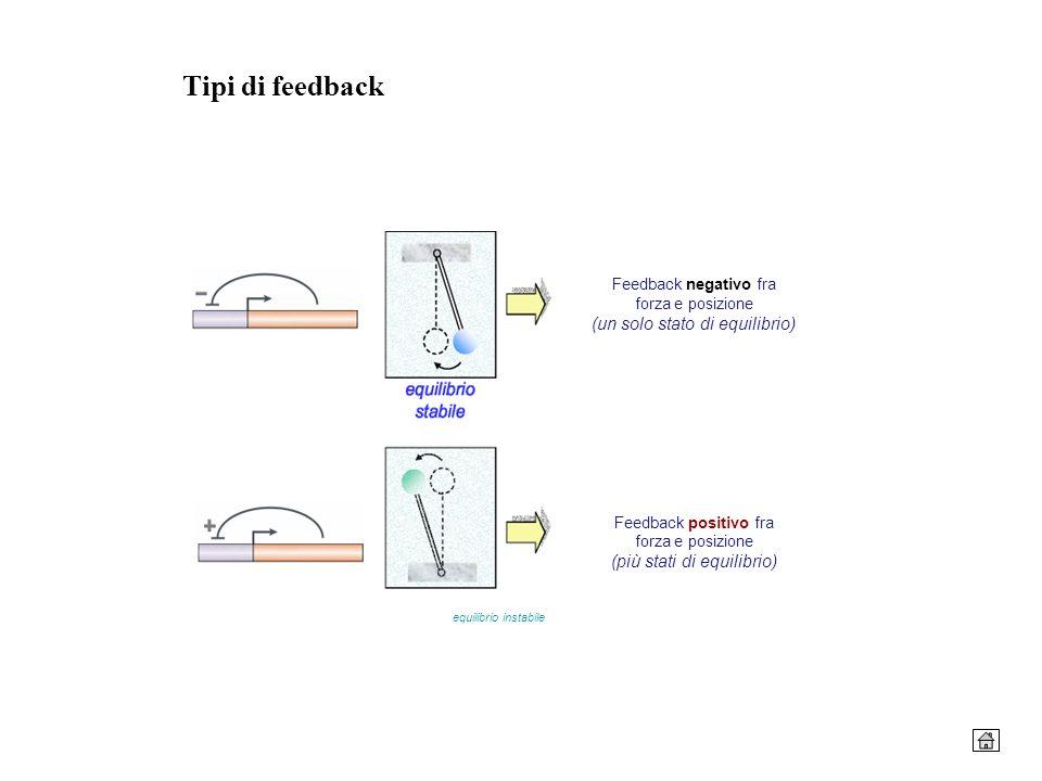 Tipi di feedback Feedback negativo fra forza e posizione (un solo stato di equilibrio)