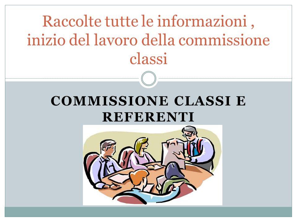 Commissione classi e referenti