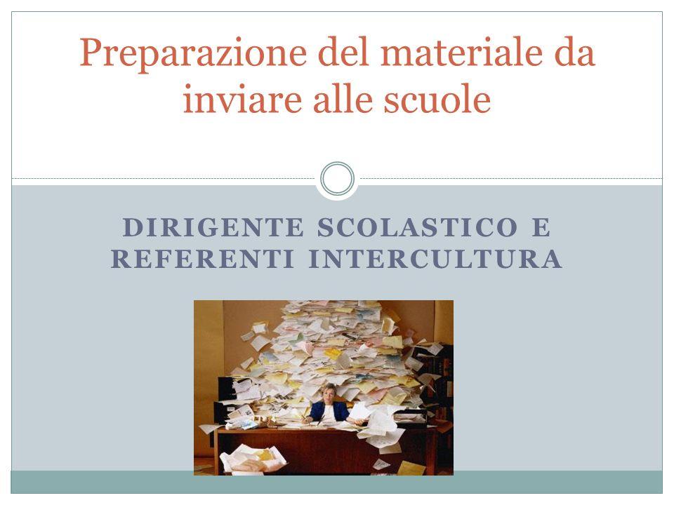 Preparazione del materiale da inviare alle scuole
