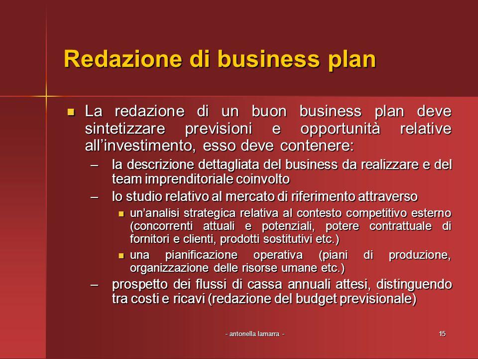 Redazione di business plan