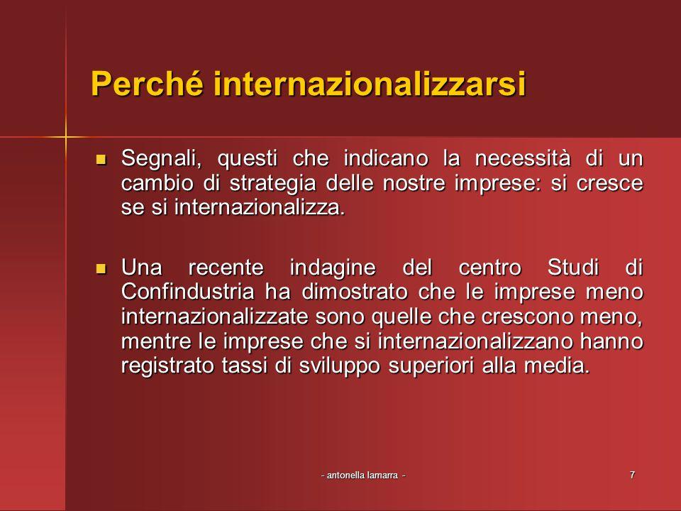 Perché internazionalizzarsi