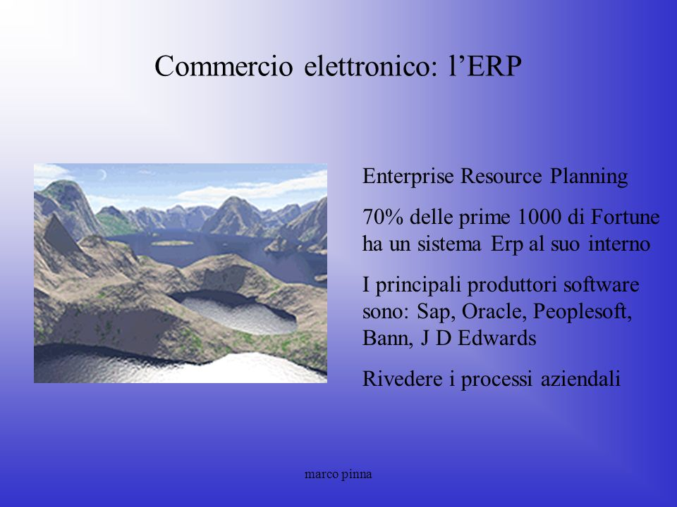 Commercio elettronico: l'ERP