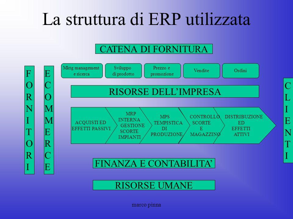 La struttura di ERP utilizzata