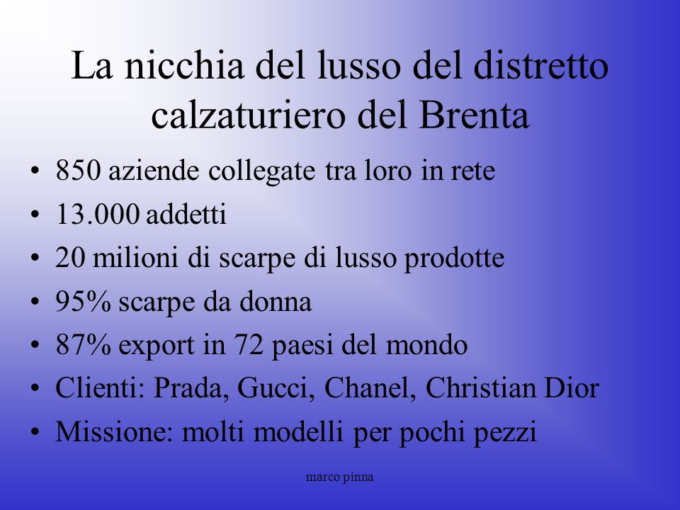 La nicchia del lusso del distretto calzaturiero del Brenta