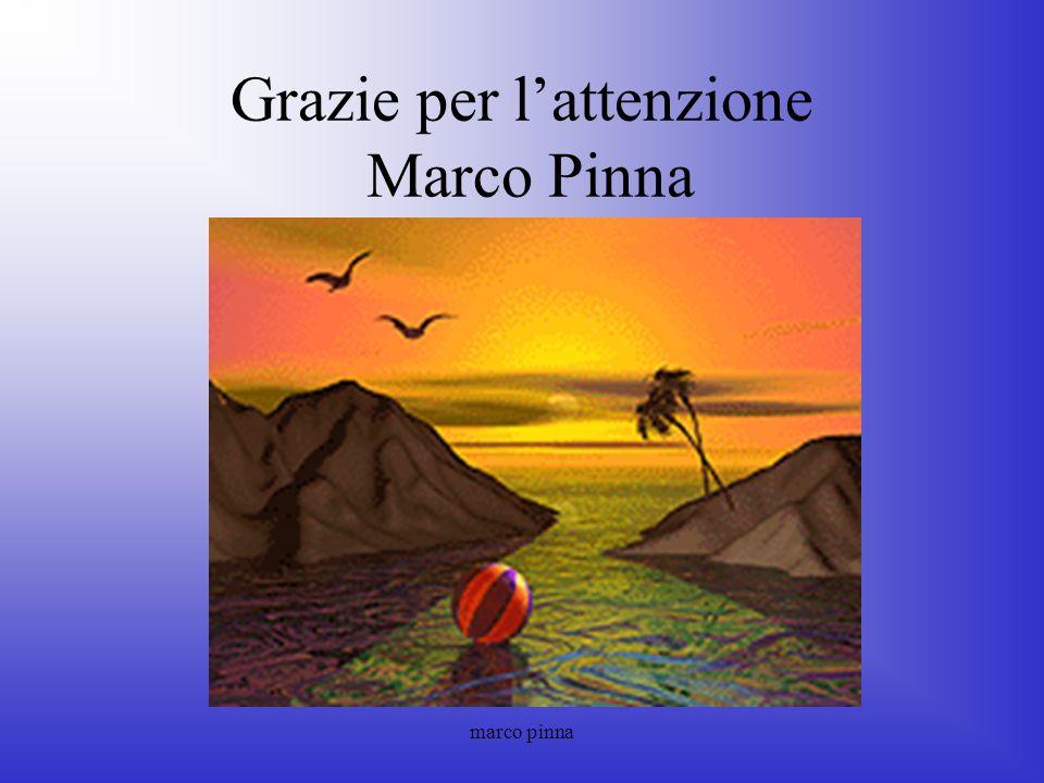 Grazie per l'attenzione Marco Pinna