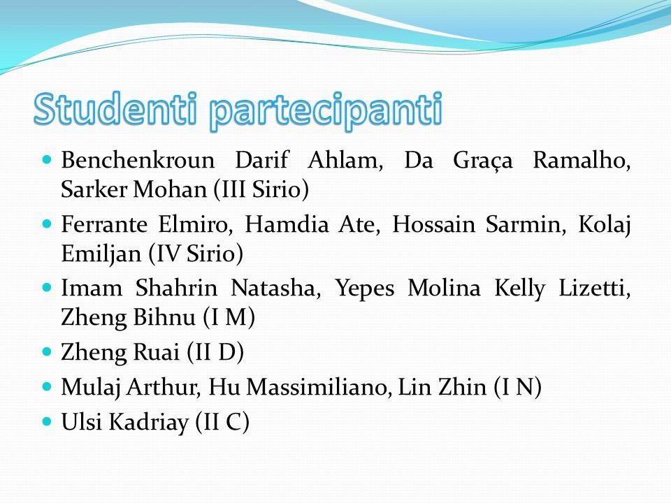 Studenti partecipanti