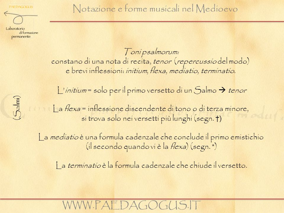 Notazione e forme musicali nel Medioevo