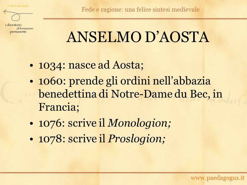 ANSELMO D'AOSTA 1034: nasce ad Aosta;