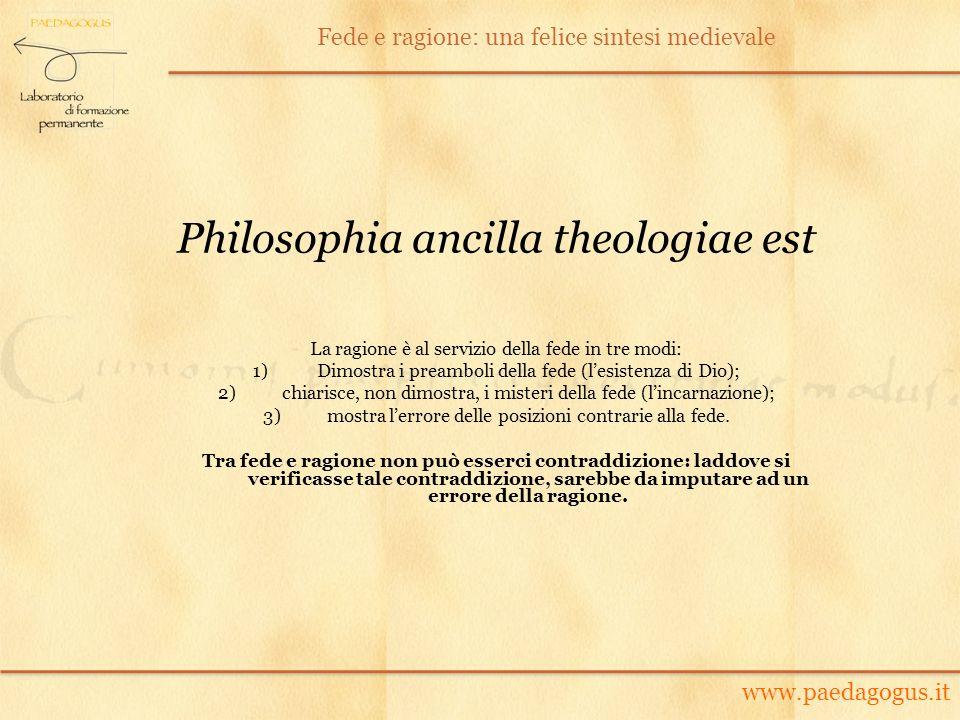 Philosophia ancilla theologiae est