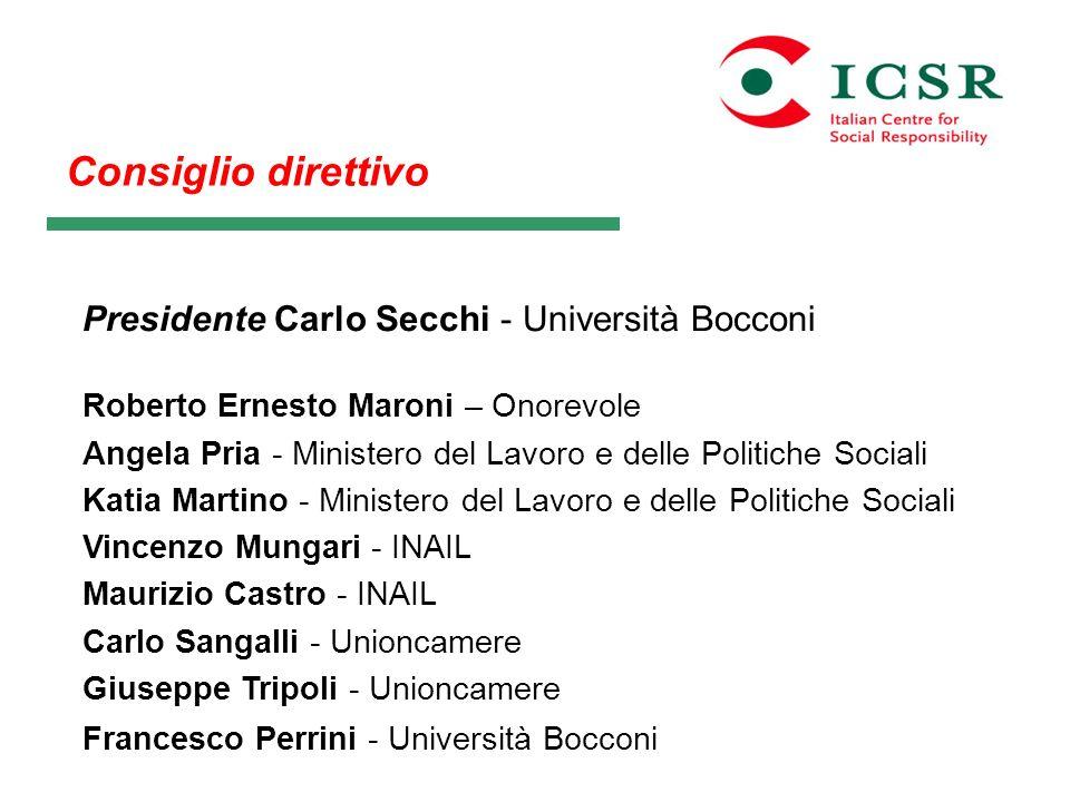 Consiglio direttivo Presidente Carlo Secchi - Università Bocconi