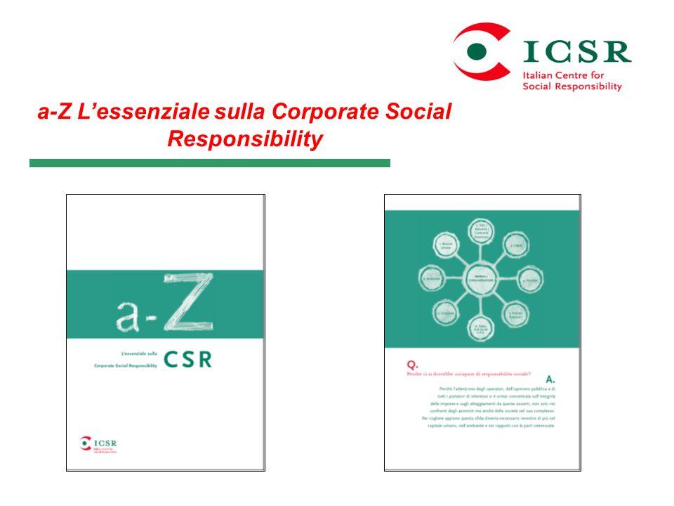 a-Z L'essenziale sulla Corporate Social Responsibility