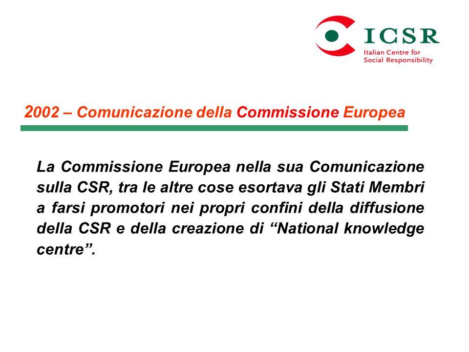 2002 – Comunicazione della Commissione Europea