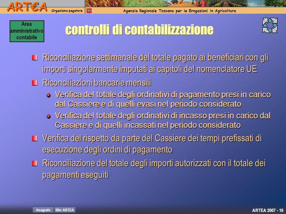 controlli di contabilizzazione